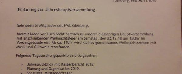 Gleisberg ladet zum Jahresabschluss ein